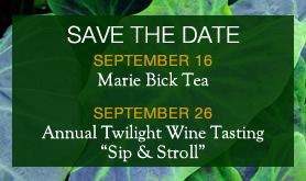 "Save the Date: Annual Twilight Wine Tasting ""Sip & Stroll"""