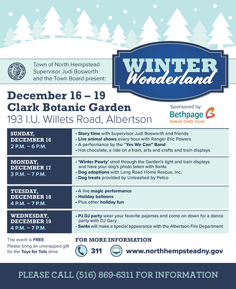 Click on banner to download the Winter Wonderland 2018 flyer
